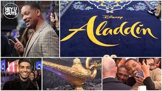 Aladdin Premiere - Will Smith & Mena Massoud on Disney's Live Action Remake