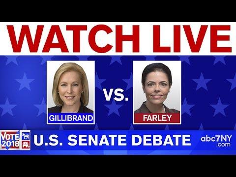 Senate Debate Between NY Sen. Kirsten Gillibrand And Chele Farley