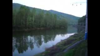 Уральские горы и участок Аша - Миньяр вид из окна 60-го поезда