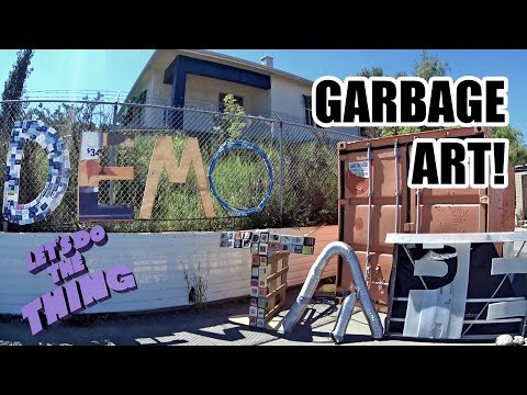 Huge Interactive Art Installation Made Out Of Garbage!