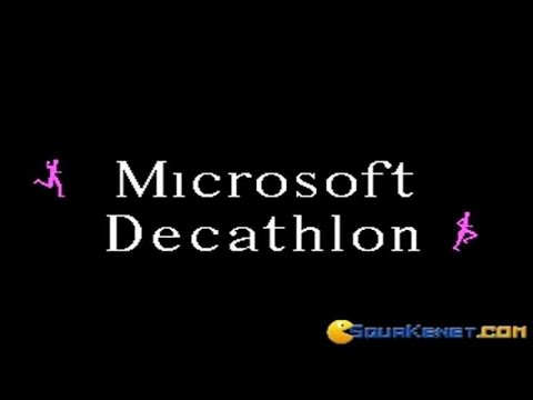 Microsoft Decathlon gameplay (PC Game, 1982) thumbnail
