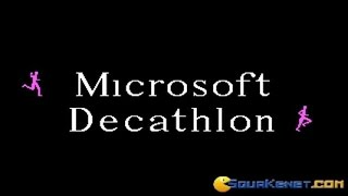 Microsoft Decathlon gameplay (PC Game, 1982)