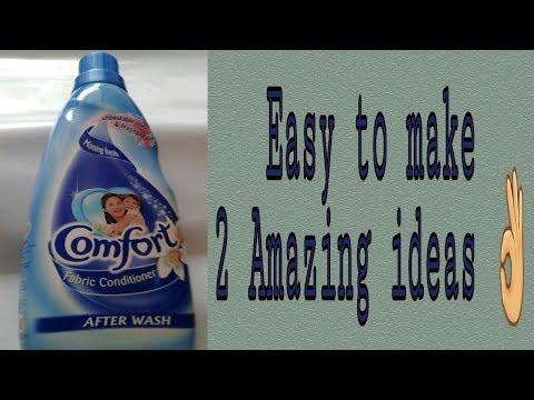 Empty plastic bottle reuse ideas /comfort bottle reuse ideas
