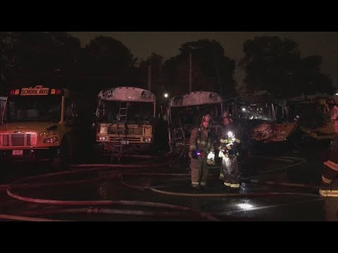 Providence school bus yard fire considered suspicious