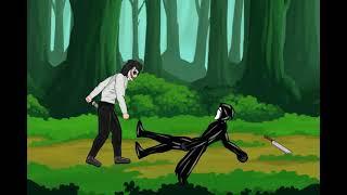 Крик против джеффа убицы против пенивайза против картун кета (рисуем мультфильмы 2)