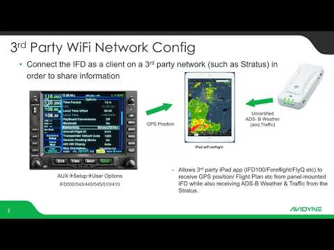 Connecting Avidyne IFD & Stratus3 to your iPad (Foreflight or IFD100)