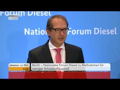"""Diesel-Skandal: Pressekonferenz zum """"Nationalen Forum Diesel"""" am 02.08.17"""