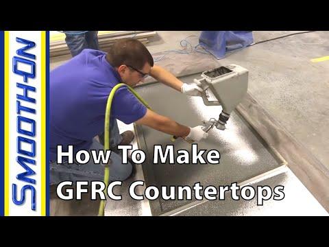 How To Make Custom Concrete Countertops using GFRC