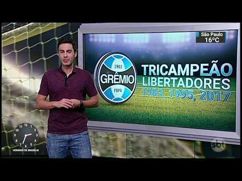 Campeão da Libertadores, Grêmio vai representar o Brasil no Mundial | SBT Notícias (30/11/17)
