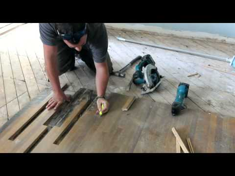 How To Patch Hardwood Floor Youtube
