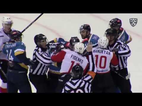 Бой КХЛ: Рахимуллин VS Фисенко