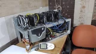 Майнинг .Ферма на 6 - 5 видеокартах GeForce GTX 1060 и NVidia P106 - 100. Mining in 2020.
