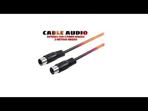 Video de Cable audio estereo DIN 5 pines macho 2 M Negro