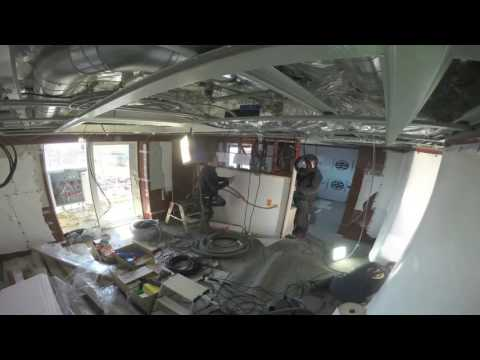 Cabin refurbishment of the Hebridean Sky