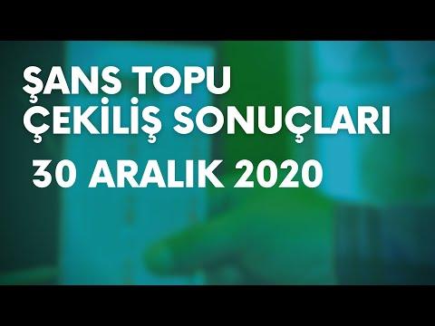 Şans Topu Sonuçları Belli Oldu   30 Aralık 2020