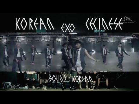 EXO - Growl | Korean - Chinese MV Comparison (ver.A)