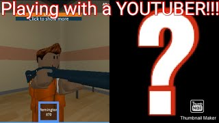 PLAYING WITH ANOTHER YOUTUBER!!! Roblox episode 3