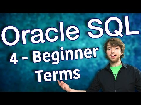 Oracle SQL Tutorial 4 - Beginner Terms - Database Design Primer 1