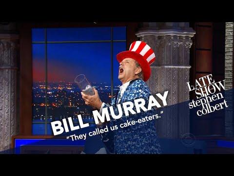 Bill Murray Ambushes The Ed Sullivan Theater With T-Shirts