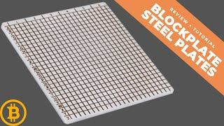 Blockplate - indestructible steel plates for mnemonic SEED backup? 69$
