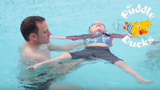 How to Teach your Child (aged 2-5 years) to Swim - Back Floating