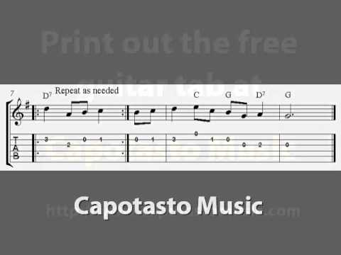 The Twelve Days Of Christmas, free Christmas guitar tab sheet music