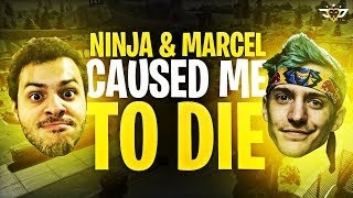NINJA AND MARCEL CAUSED ME TO DIE?! I NEED NEW FRIENDS! (Fortnite: Battle Royale)