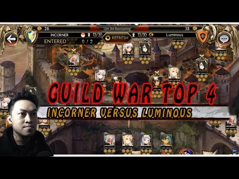 Seven Knights - Incorner Vs LUMINOUS (GVG) I TOP GUILD BEFORE MT