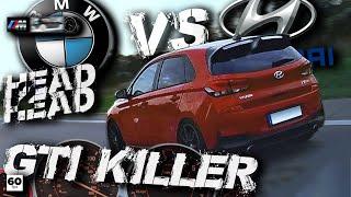 Golf GTI Killer Hyundai i30 N vs BMW M135i +60-255 Autobahn Waylens RaceRender