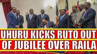 Uhuru Kenyatta Kicks William Ruto out of Jubilee over Raila Odinga