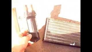 замена радиатора печки ваз 2115 не снимая торпеды в течения 20минут