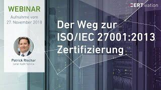 Webinar: Der Weg zur ISO 27001 Zertifizierung