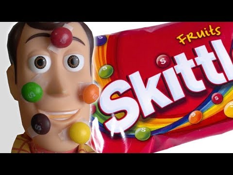 Toy Story 4 Skittles Taste Rainbow Commercial Parody | Woody | Kids Wild Ride IRL