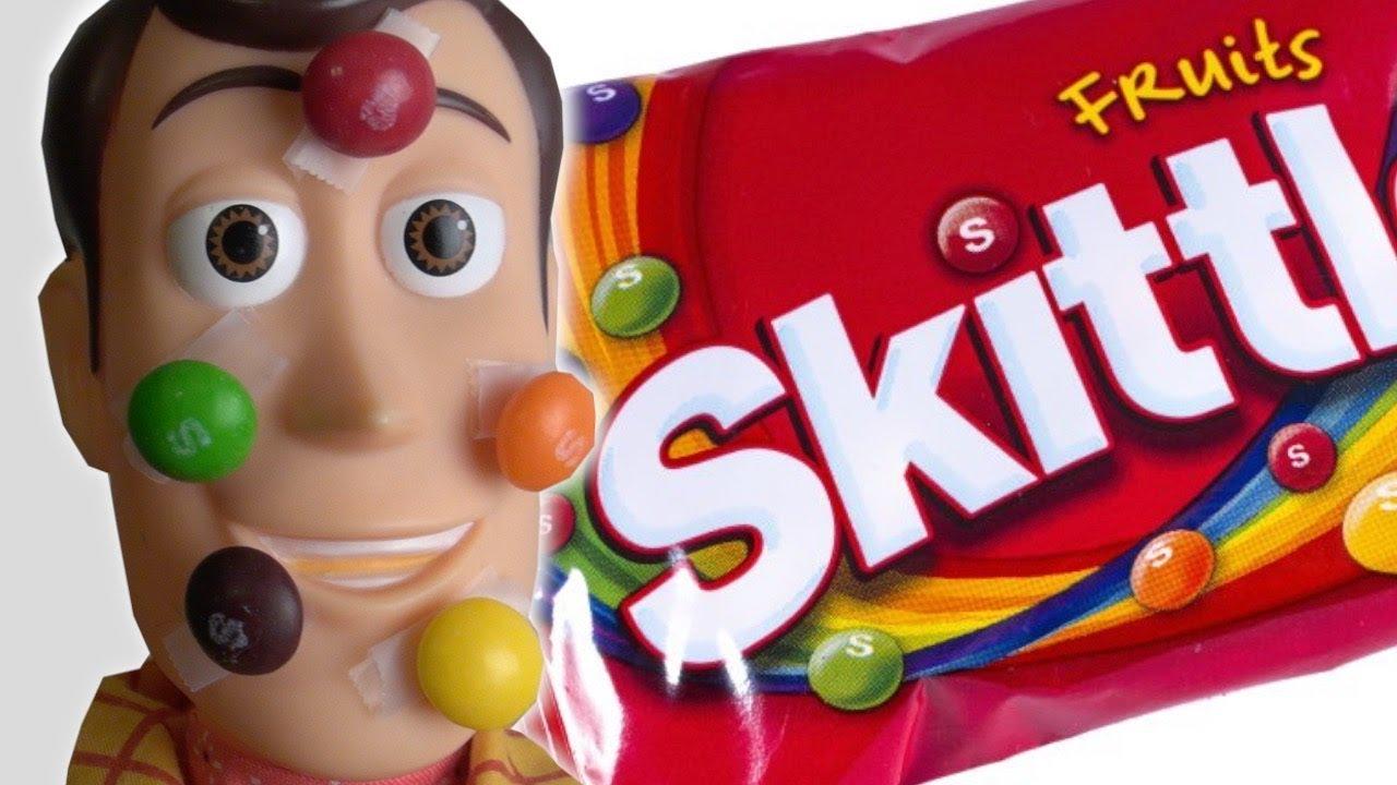 Toy Story 4 Skittles Taste Rainbow Commercial Parody   Woody   Kids Wild Ride IRL