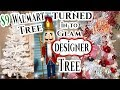 Red & White Winter Wonderland Christmas Tree 2018 Cheap to Glam Tree Makeover💎🎄Must SEE!!