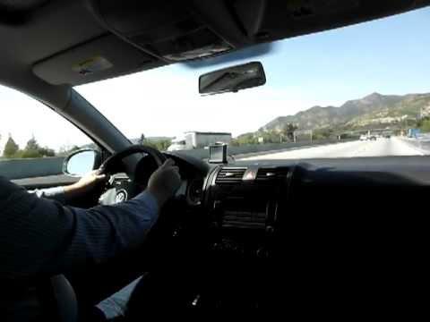 Bear cub driving from Van Nuys to Sylmar California