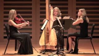 La Mer Trio Claude Debussy Sonate for flute viola and harp