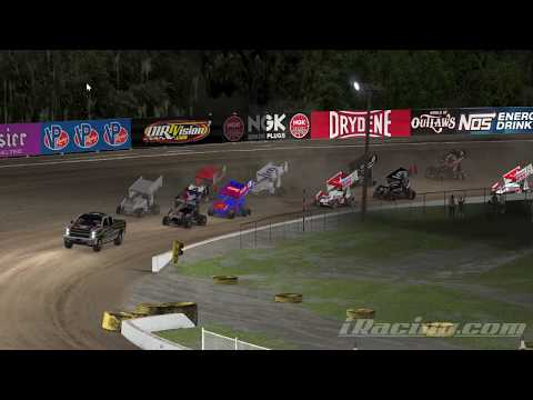 iRacing Dirt sprint car @ Volusia speedway park new 2020