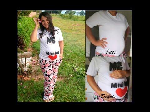 6124061da DIY CUSTOMIZE  Camiseta gestante  mãedemenina ♥ - YouTube