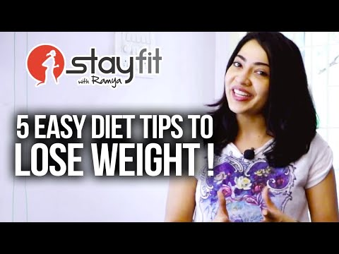 5 Easy diet tips to Lose Weight ! | Ramya