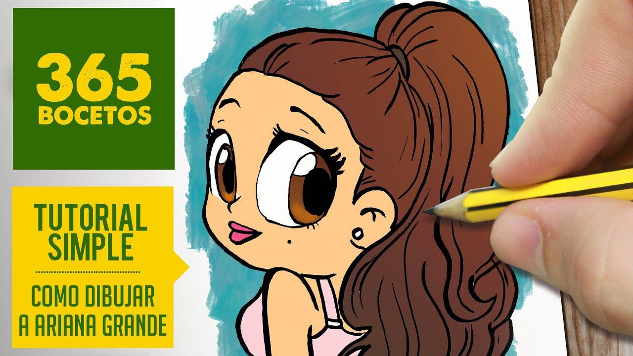 COMO DIBUJAR ARIANA GRANDE- Dibujos kawaii faciles - How ...