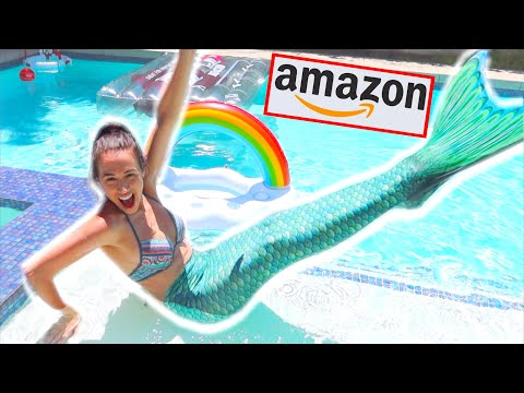 TESTING WEIRD POOL TOYS FROM AMAZON!