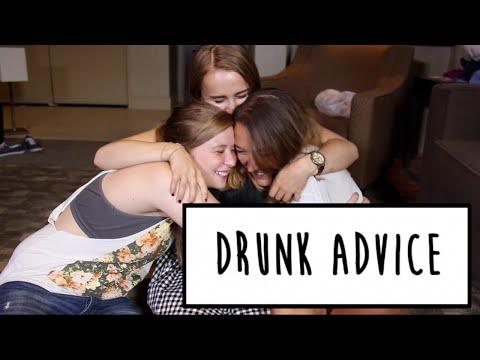 DRUNK ADVICE WITH ASHLEY & ALAYNA | Hannah Witton
