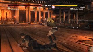 DOA5U Replay 43: Offbeat Ninja(Ein) vs XCaLiburBLadeZ(Helena)