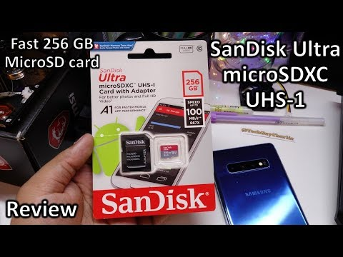 SanDisk 256GB MicroSd UHS 1 Sdxc A1 Speed Test, 4K Recording And Review