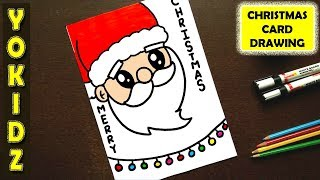 christmas card drawing easy