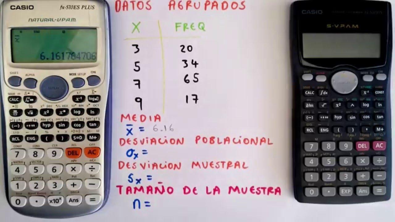 Como sacar la media aritmética en la calculadora