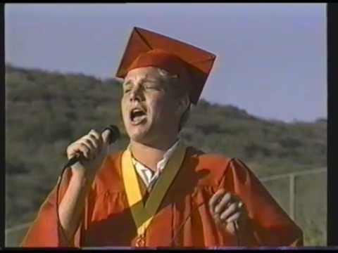 Adam Lambert at Mt Carmel graduation 2000