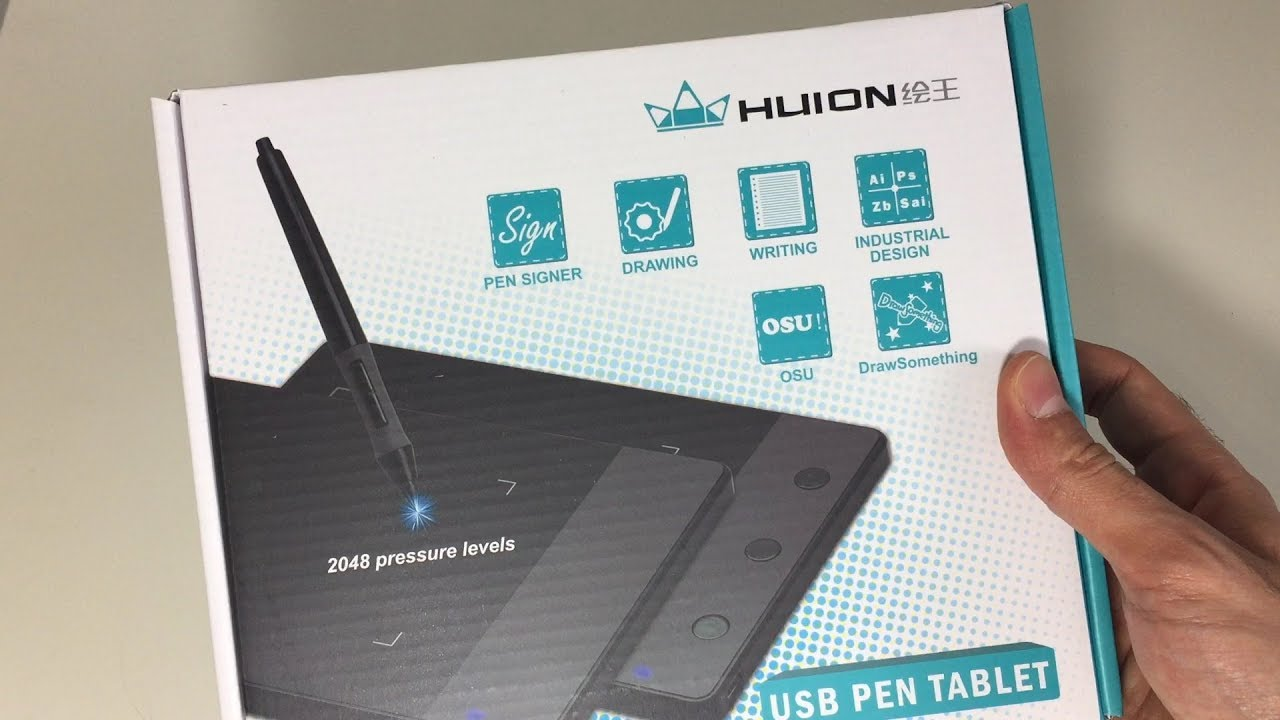 Huion 420 Drawing Tablet How To Draw Using Your Computer