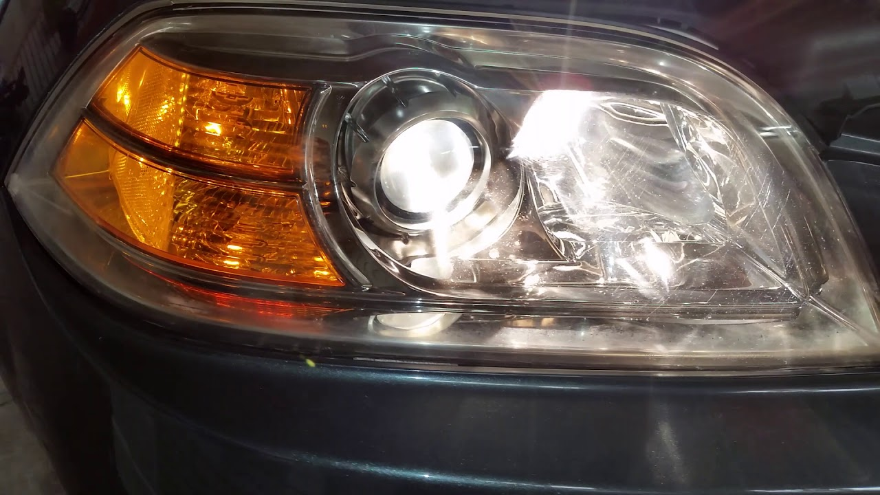 Burnt Out Headlight : Acura mdx headlights testing after changing